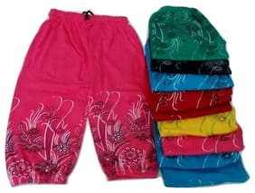 FABLOOK girls printed pants pack of 10 piece multicolour for to 4 to 6 year