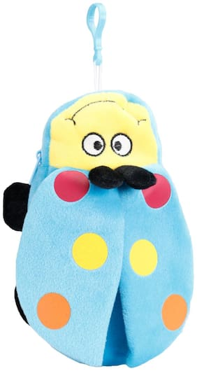 FabSeasons Blue Bee shaped Fur Pencil;pen & Stationary Pouch for Kids;Ideal for Gifting