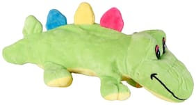 FabSeasons Green Crocodile shaped Plush Fur Pencil;Pen & Stationary Pouch for Kids;Can also be used like a Toy & Car Hanging