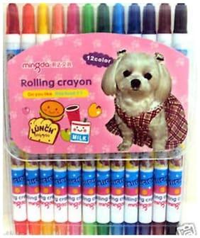 Fancy Rolling Crayon - 12 Nos