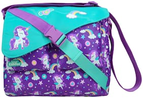 Smily Kiddos  fancy shoulder School/ Picnic bag for kids (purple)