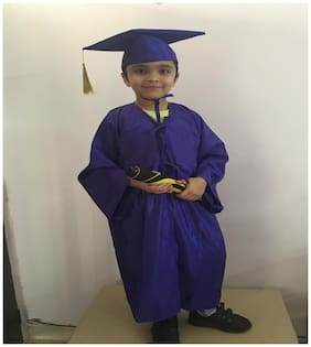 Fancydresswale Convocation Gown Graduation dress ( Blue , 4-5 Years)