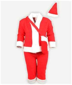 Fancydresswale Red And White Santa Clause Dress