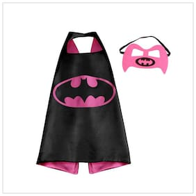 Fancydresswale Dress up costume Superhero Capes set with mask for Boys and Girls- Birthday party gift for kids Character- BATGIRL