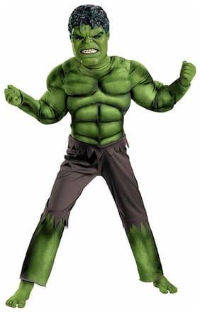 Fancydresswale Hulk Costume + Plastic Mask
