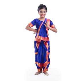 Fancydresswale Bharatnatyam Dance Dress Blue