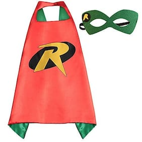 Fancydresswale Dress up costume Superhero Capes set with mask for Boys and Girls- Birthday party gift for kids Character- ROBIN