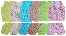 FANZI Multi colored top and bottom set for Baby (Pack of 6)