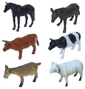 Farm Animals Figures Set- (Pack of 6)