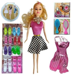 Fashion Doll For Kids Barbie Girl | Selected Sandals And Accessories