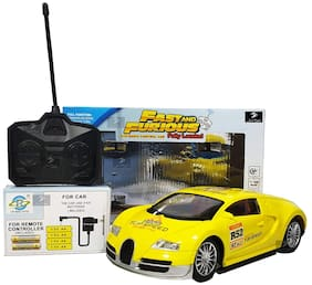 Fast and Furious Fully loaded radio control car (Yellow Bugatti)