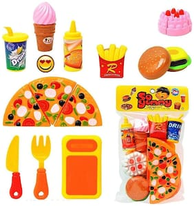 Fast Food Lunch Play Pizza Set Toy for Kids
