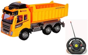 Fastdeal Remote Control Garbage Truck Construction RC Dumper Truck Toy for Kids (Multicolor)