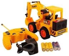 FASTDEAL Remote Control Yellow Construction Truck
