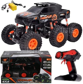 FD 2.4 GHz R/C 1:18 Scale 6 Wheels Rock Crawler Xtreme Off Road Remote Control Rechargeable Car | 4X4 | Strength Shocks