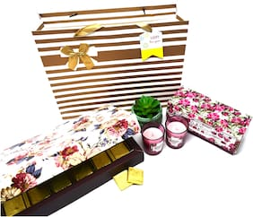 Festive Gifting Combo Luxury Gift Hamper of Rectangle Hard Paper Box