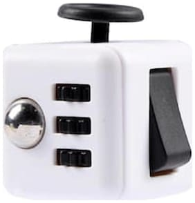 Fidget Cube Relieves Squeeze Fun Stress Reliever Anxiety and Stress Cube White & Black