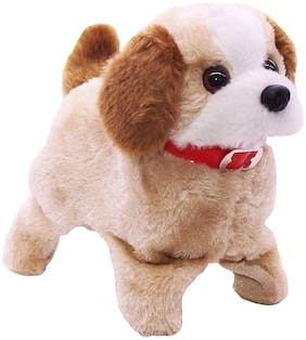 Fido Fluffy Adorable Jumping funtastic Puppy with Barking, Waging Tail, Walking and fliping Best for Kids