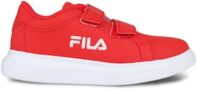 Fila Red Canvas shoes for boys