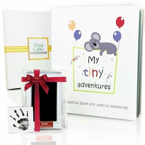 First 5 Years Baby Memory Book + Clean-Touch Ink Pad + Gift Box. Record Your or