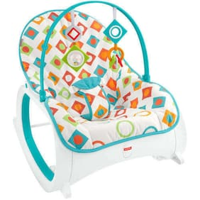Fisher-Price Infant-To-Toddler Rocker Stationary Infant Seat, Geo Diamonds NEW