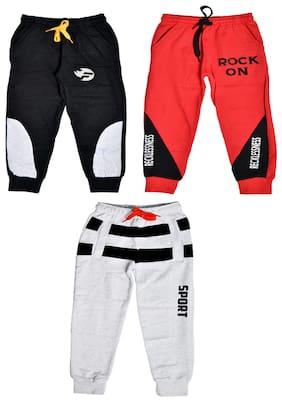 Flash Fashion Cotton Multi Printed Joggers  For Boy
