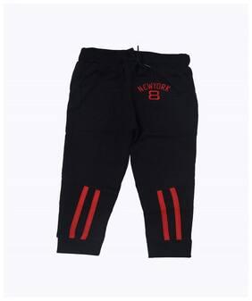 Flash Fashion Boy Cotton Track pants - Black