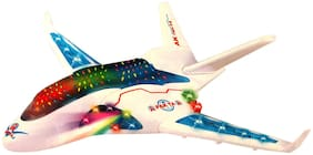 Shanaya Flash Plane Bump & Go with Music & 3D Lights Musical Toys for Kids - Multicolor