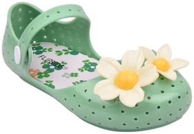 Flipside Green Sandals For Infants