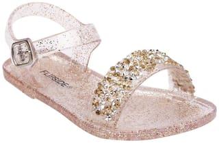 Flipside Gold Sandals For Infants