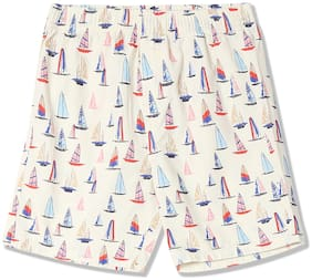 Flying Machine Boys Elasticized Waist Boat Print Shorts