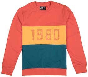 Flying Machine Boy Cotton Colorblocked Sweatshirt - Multi