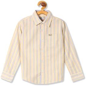 Flying Machine Boy Cotton Striped Shirt Yellow