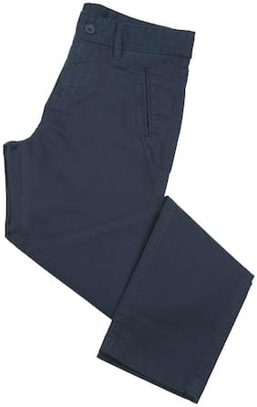 Flying Machine Boy Solid Trousers - Blue