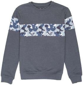 Flying Machine Boy Polyester Printed Sweatshirt - Blue