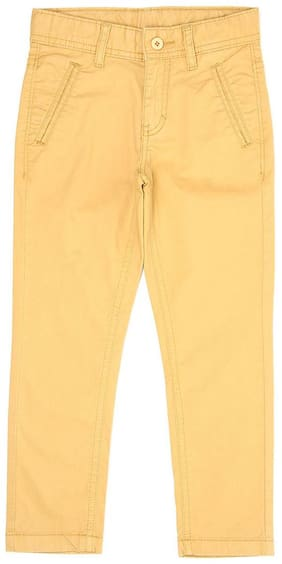 Flying Machine Boy Solid Trousers - Yellow