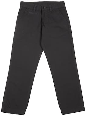 Flying Machine Boy Solid Trousers - Black