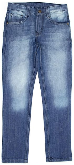 Flying Machine Boys Solid Blue Casual Jeans