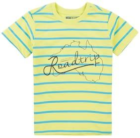 Flying Machine Boy Cotton blend Striped T-shirt - Green