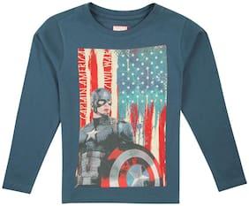 Flying Machine Boy Cotton Printed T-shirt - Blue