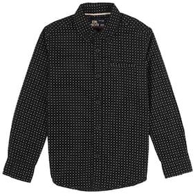 Flying Machine Boy Cotton Printed Shirt Black