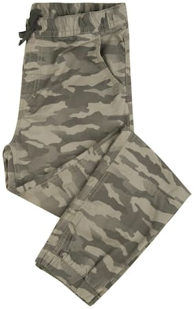 Flying Machine Boy Solid Trousers - Green