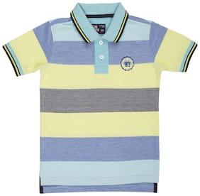 Flying Machine Boy Cotton Striped T-shirt - Multi