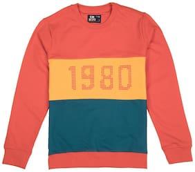 Flying Machine Boy Cotton Solid Sweatshirt - Multi