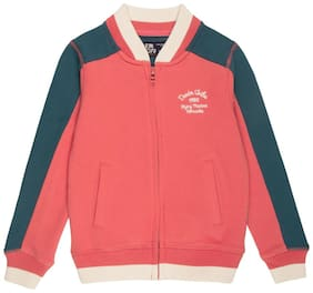 Flying Machine Boy Cotton Solid Winter jacket - Red
