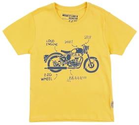 FM Boys Slim Fit Graphic T-Shirt