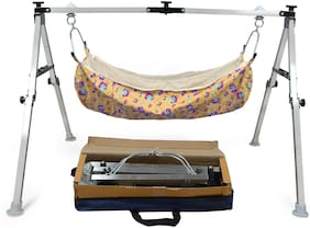 FOLDING STAINLESS STEEL SQURE BABY CRADLE 2FT - Premium Series