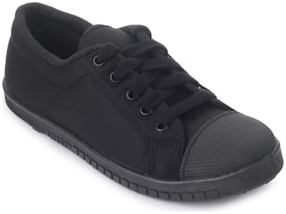 Liberty Black Canvas shoes for boys