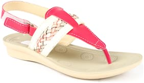 Liberty White Sandals For Girls