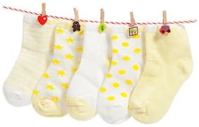 FOOTPRINTS Organic cotton Baby Socks-12-30 Months - Pack of 5 Pairs - Yellow